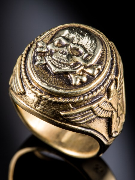 Totenkopf Ring – Brass