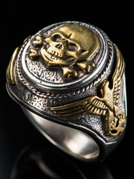 Totenkopf Ring – Combi