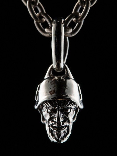 Mini Devil Head Nazi – Silver