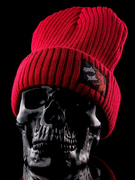 Knit Cap –  Red