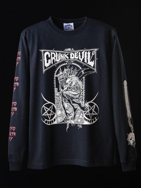 Dr.Aku  製作悪魔のロングスリーブシャツ – BLACK