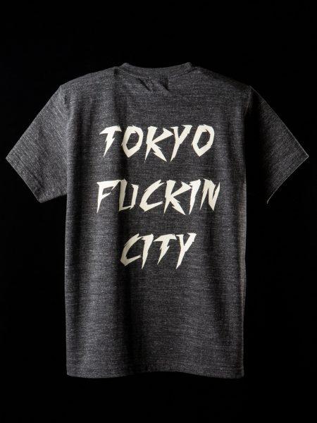 TOKYO FUCKIN CITY Tee – ヘザーブラック