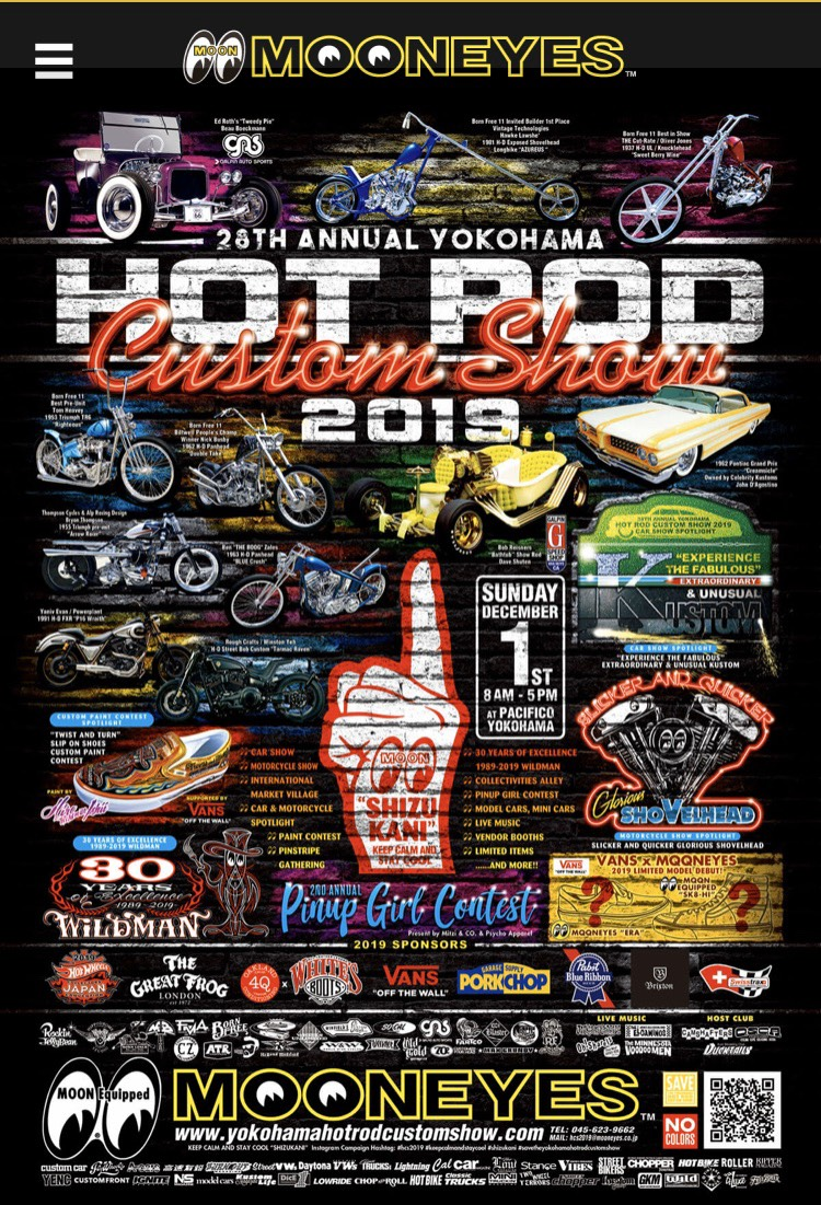 28th Annual YOKOHAMA HOT ROD CUSTOM SHOW 2019